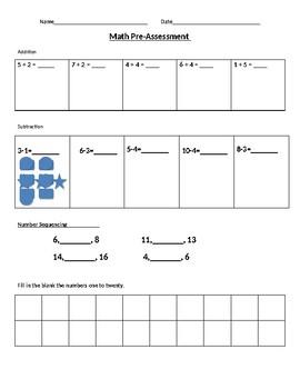 Math Pre-Assessment