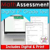Math Pre Assessment 6th Grade Digital for Google Classroom