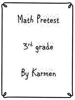 Math Pre-Test for 3rd grade