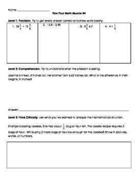 Fifth Grade Math Skill Builders