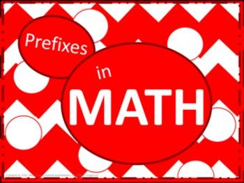 Math Prefixes Poster Set - Red