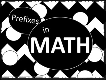 Math Prefixes Poster Set - Black and White