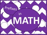 Math Prefixes Poster Set - Purple