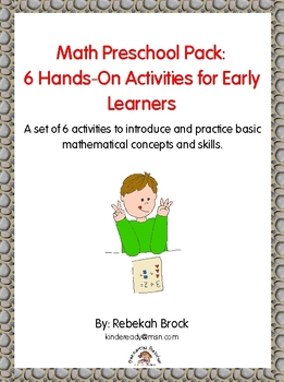 Math Preschool Pack: 6 Hands-On Activities for Early Learners