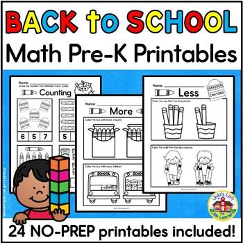 Math Printables for Preschool Bundle