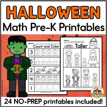 Math Printables for Preschool Yearlong Bundle