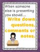 Math Discussion Bundle: Presentation Listening & Question Stems