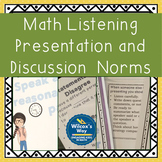 Math Discussion Bundle: Presentation Listening & Question Stems