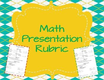 Math Presentation Rubric