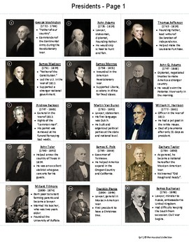 Math & Presidents' Day History | 45 Portrait Flashcards (Gr. K-7)