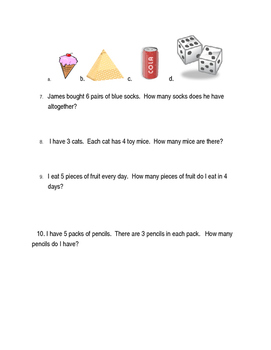 Math Pretest: Solid Shapes and Multiplication