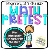Math Pretest for the Beginning of First Grade