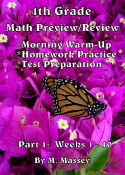 4th Grade Math Preview/Review: Part 1     (Weeks 1 - 10)