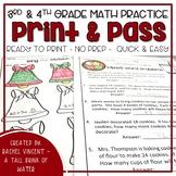Christmas No Prep Math for 3rd & 4th  Grade