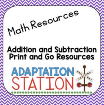 Math Print and Go Bundle