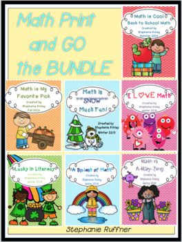 Math Print and Go The Bundle - 163 Pages