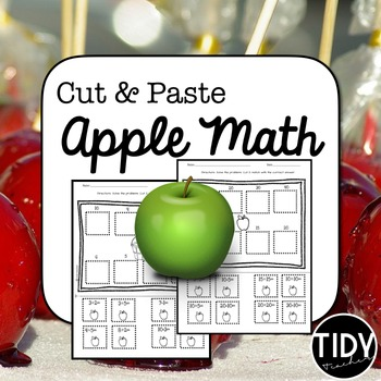 Addition and Subtraction Cut and Paste Back to School Activity!