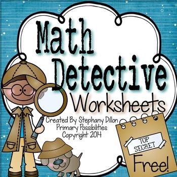 Math Printable Freebie! {Math Detectives}