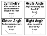 Math: Printable Geometry Vocabulary Cards: Grades 2-5