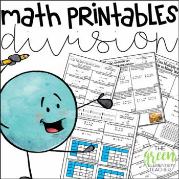 Math Printables: 3rd Grade Division
