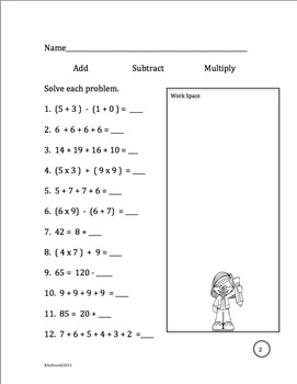 Back to School Activities Math Printables Morning Work No Prep  Common Core
