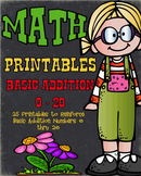 Addition Worksheets - Basic Addition Worksheets Print and Go