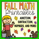 Math Printables & Worksheets-Fall Themed!