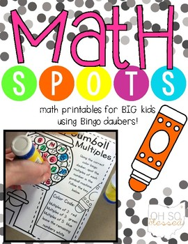 {Math Spots!} Math Printables with Bingo Daubers