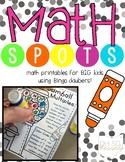 {Math Spots!} Math Printables with Bingo Daubers