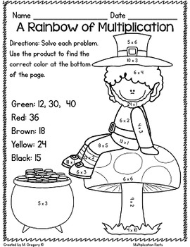 Math Printables for March -3rd Grade (No Fuss!)