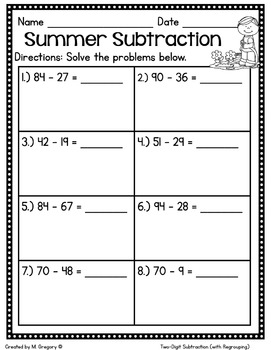 Math Printables for May -2nd Grade (No Fuss!)