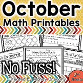 Math Printables for October -2nd Grade (No Fuss!)