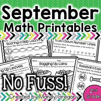 Math Printables for September (No Fuss!)