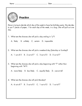 Math - Probability  & Predictions - Tutorial and Practice: