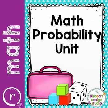Math Probability Unit with Activities and Games