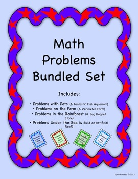 Math Problem Bundle - 4 sets of Word Problems/Open-ended Projects