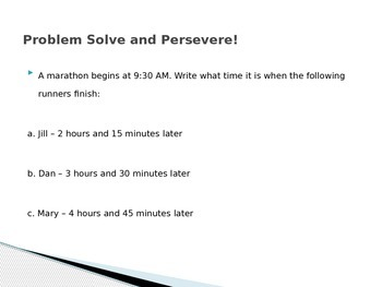 Math Problem Solve and Persevere PPT