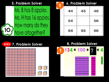 Math Problem Solver Game (64 Task Cards)