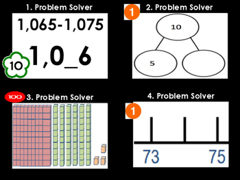Math Problem Solver Game (64 Task Cards)