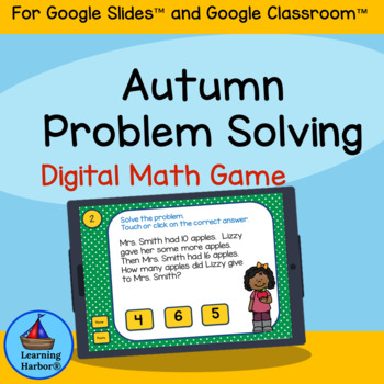 Math Problem Solving 1st Grade for Google Classroom™ Activity Autumn, Fall