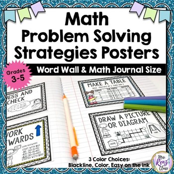 Math Problem Solving Strategy Posters for Grades 3-5 in Co