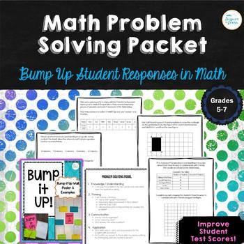 Math Problem Solving Packet-Bump Up Student Math Responses