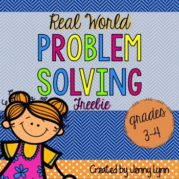 Word Problem Solving: FREE 3rd-5th)