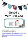 Math Problem Solving, 40 Math problems for Grade 1