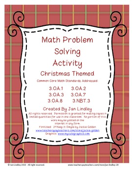 Math Problem Solving Activity-Christmas Themed