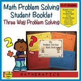 Math Story Problem Solving Book