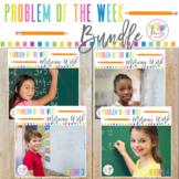 Problem of the week Math Word Problem Solving Bundle