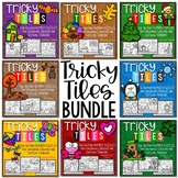 Math Problem Solving Bundle | Tricky Tile Activities for t