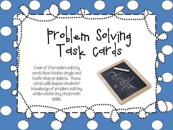 Math Problem Solving Cards {CCSS Aligned}