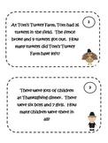 Math Problem Solving Cards - Thanksgiving Theme